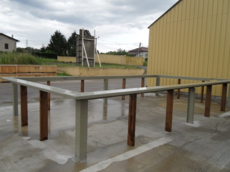 Ossature métallique piscine hors sol bois